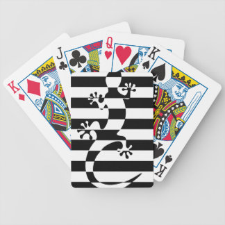 LIZARD WHITE $ BLACK STRAP BICYCLE PLAYING CARDS