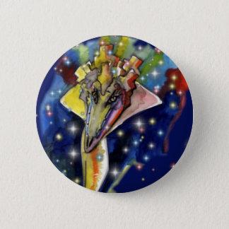 Lizard wizard 6 cm round badge