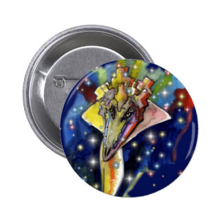 Lizard wizard 6 cm round badge