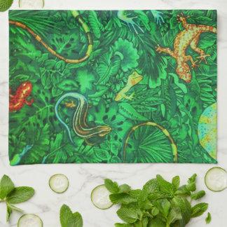 Lizards Batik Tea Towel