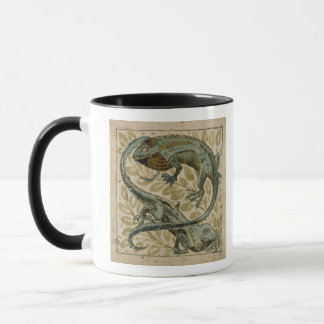 Lizards, design for a tile (w/c on paper) mug