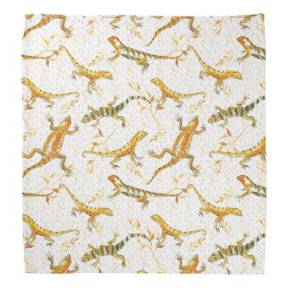 Lizards Earth Tone Watercolor Bandana
