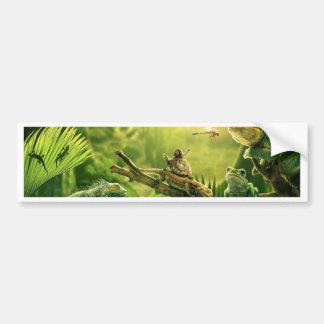 Lizards Frogs Jungle Reptiles Landscape Bumper Sticker