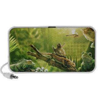 Lizards Frogs Jungle Reptiles Landscape iPod Speakers