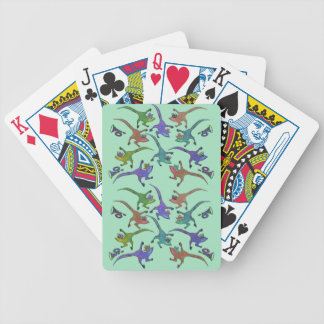 Lizards Leaping Playing Cards