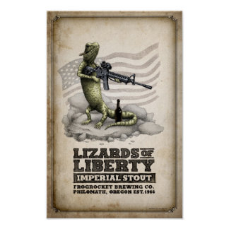 Lizards of Liberty Imperial Stout Poster