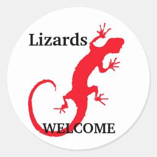 Lizards Welcome Round Sticker