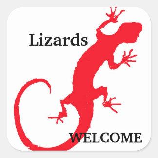 Lizards Welcome Square Sticker
