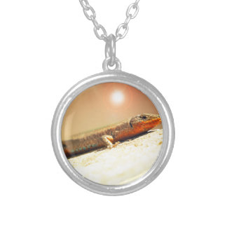 Lizart heat silver plated necklace