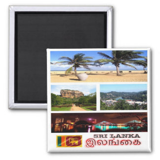 LK - Sri Lanka - Mosaic - Collage Magnet