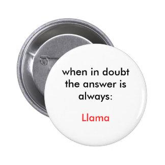Llama! 6 Cm Round Badge