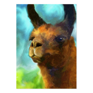 Llama ACEO Art Trading Cards Pack Of Chubby Business Cards
