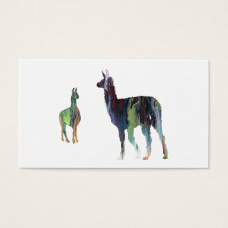 Llama art business card