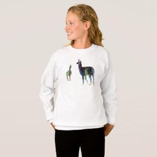 Llama art sweatshirt