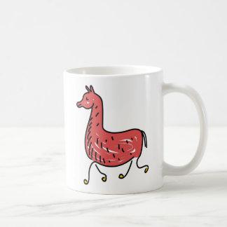 llama basic white mug
