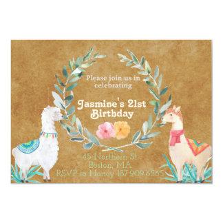 Llama Birthday Invitation