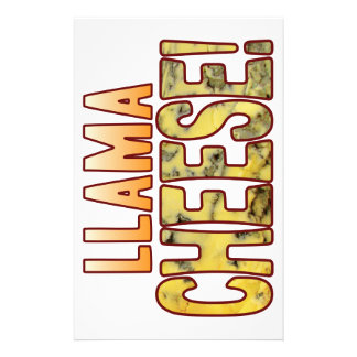 Llama Blue Cheese Stationery