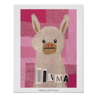 Llama by Jill Connor Poster