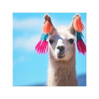 Llama Canvas Art