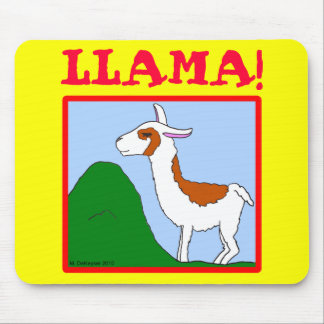 Llama! Design Mouse Pad