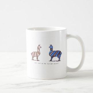 llama dress basic white mug