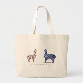 llama dress jumbo tote bag