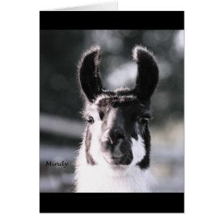 Llama Ears Card