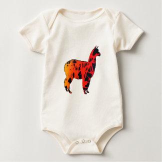 Llama Expressions Baby Bodysuit
