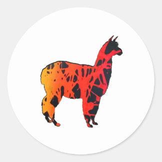 Llama Expressions Classic Round Sticker