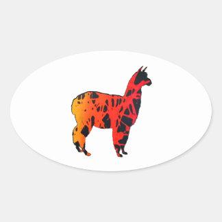 Llama Expressions Oval Sticker
