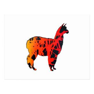 Llama Expressions Postcard
