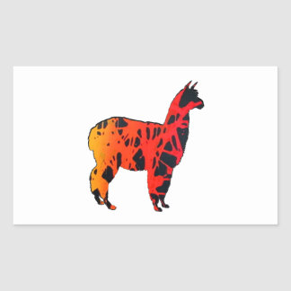 Llama Expressions Rectangular Sticker