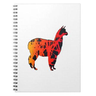 Llama Expressions Spiral Notebook