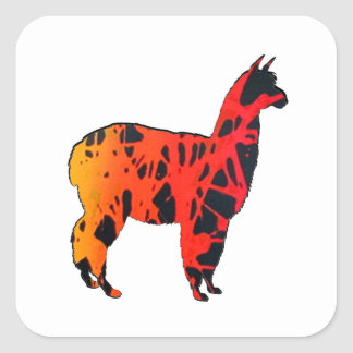 Llama Expressions Square Sticker