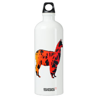 Llama Expressions Water Bottle