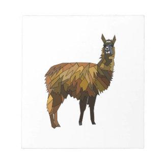 Llama geo design notepad