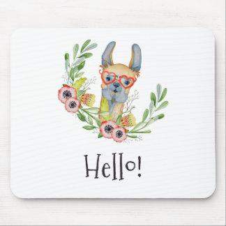 Llama,hello! Mouse Pad
