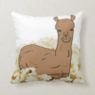 Llama in a Bed of Popcorn Cushion