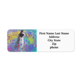 Llama in Fantasy Dream Land Return Address Label