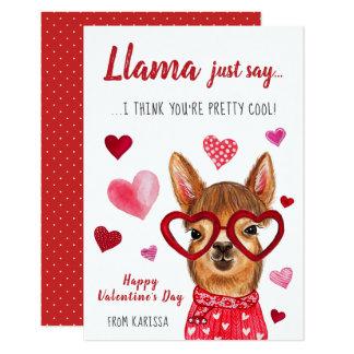 Llama Just Say   Valentine's Day Card