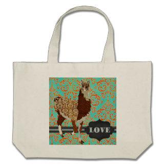 Llama Love Damask Bag