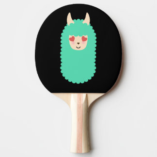 Llama Love Emoji Ping Pong Paddle