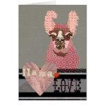 Llama Love  Valentine Greeting Card