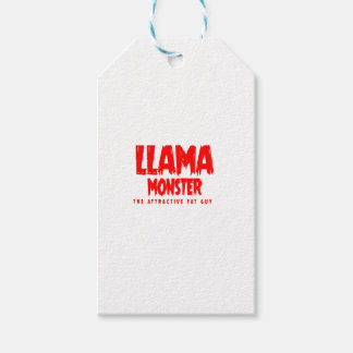 Llama Monster Red Logo Gift Tags