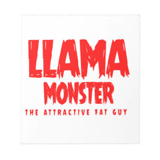 Llama Monster Red Logo Notepad