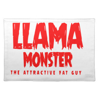 Llama Monster Red Logo Placemat