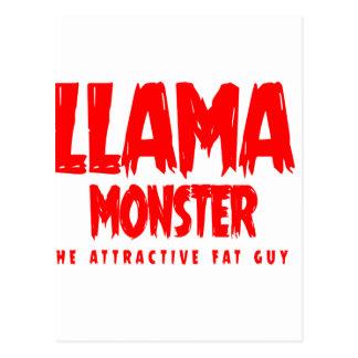 Llama Monster Red Logo Postcard