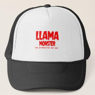 Llama Monster Red Logo Trucker Hat