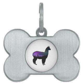 Llama Nights Pet Tag