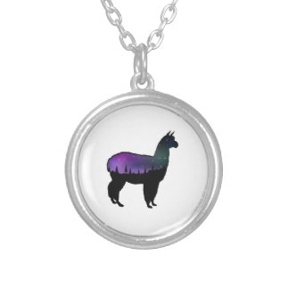 Llama Nights Silver Plated Necklace